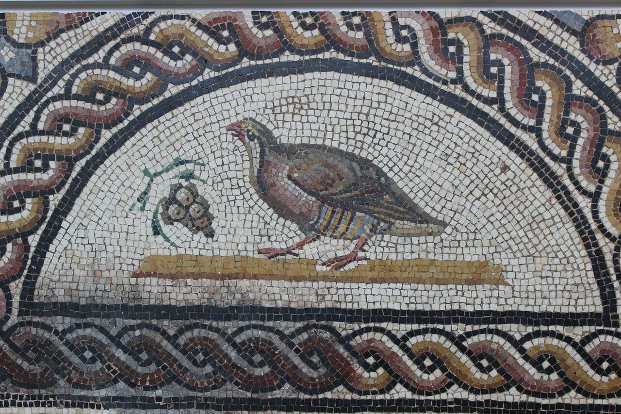 rimski mozaik vino